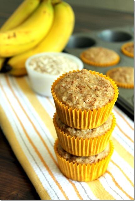 Oatmeal Banana Toddler Muffins