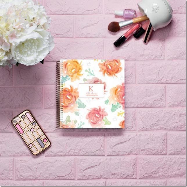 kitlife daily planner - vintage flora clip cover