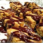 Butterscotch Blondies with Chocolate Glaze