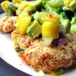 Crab Cakes with Avocado-Mango Salsa