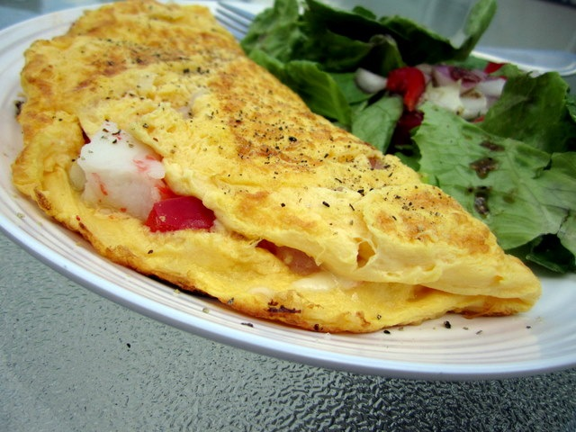 Crabmeat and Mozzarella Omelet