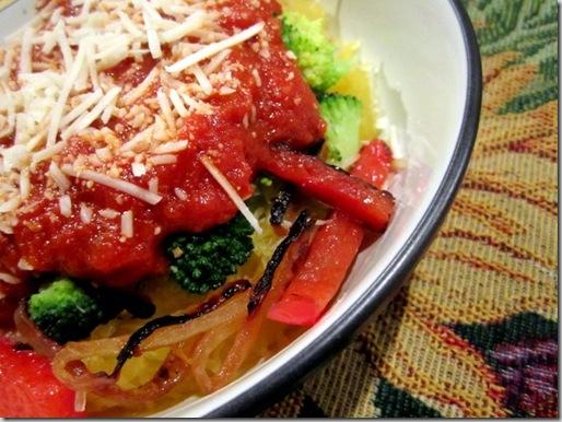 spaghetti squash pasta