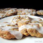 Vanilla Glazed Cranberry Apple Cookies
