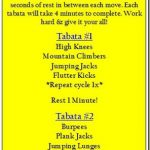 8 Minute Tabata Workout