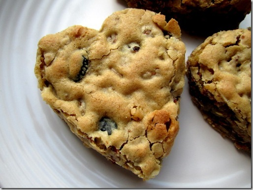 Heart-Shaped Blondies