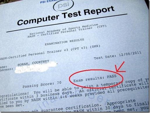 nasm test results