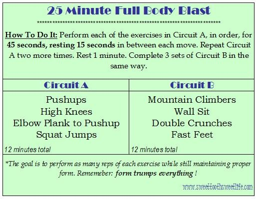 8343d8a8f 25 minute full body blast (no weights!)Full Body Weight Strength Circuit