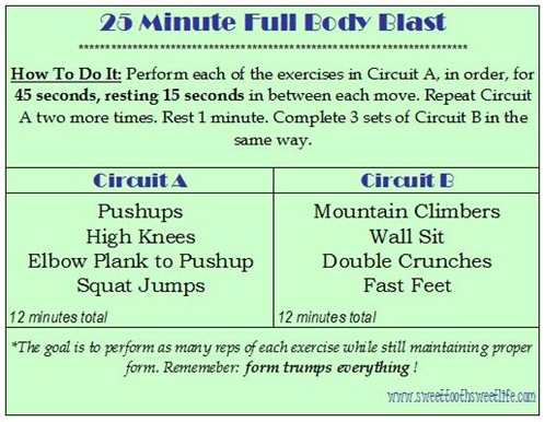 25 minute full body blast