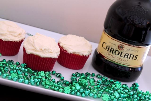 Bailey's Irish Cream Cupcakes with Irish Cream Frosting