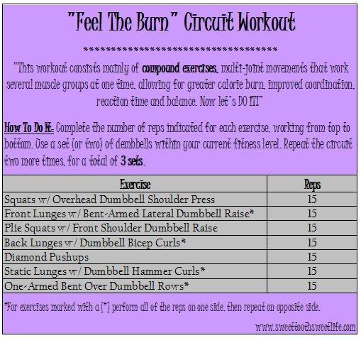 Feel the Burn Circuit Workout