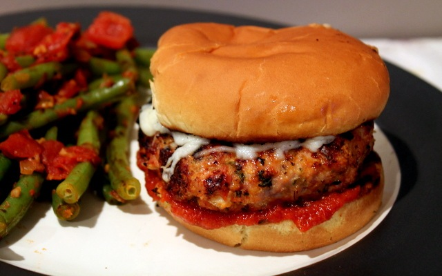 Healthy Chicken Parmesan Burgers