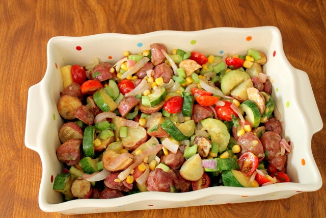 Roasted Potato Vegetable Salad