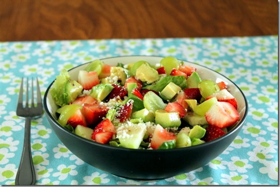 strawberry, feta, and avocado salad (2)