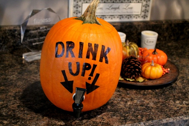 How to make a homemade pumpkin keg sweet tooth sweet life - Making a pumpkin keg a seasonal diy project ...