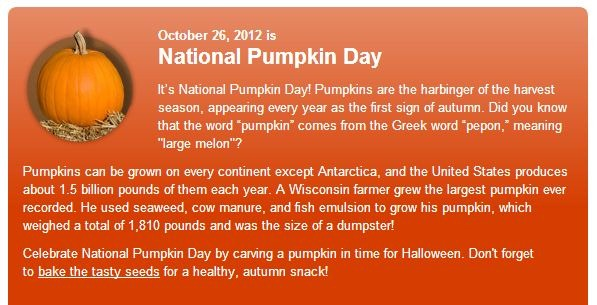 Celebrate National Pumpkin Day Sweet Tooth Sweet Life