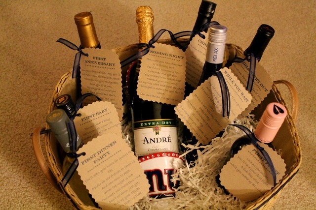 Sweet Tooth Sweet Life & Bridal Shower Gift Idea: Wine Basket With Poems