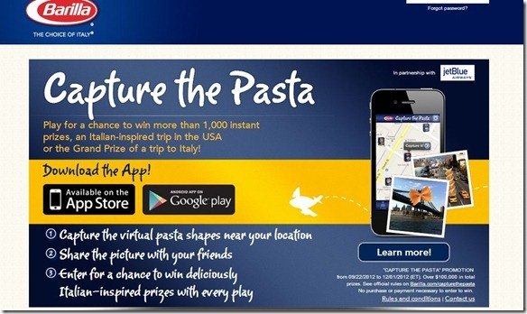 barilla capture the pasta