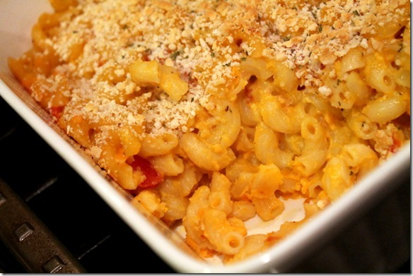 tomato and butternut squash mac and cheese