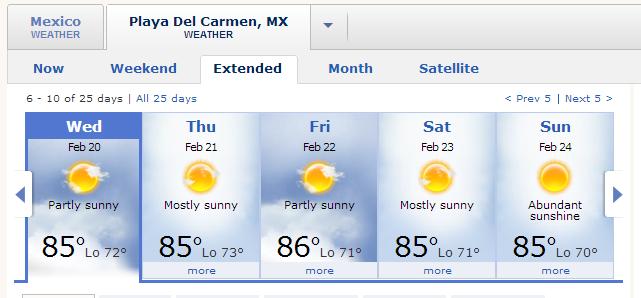 mexico weather