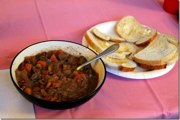 beef stew and bread