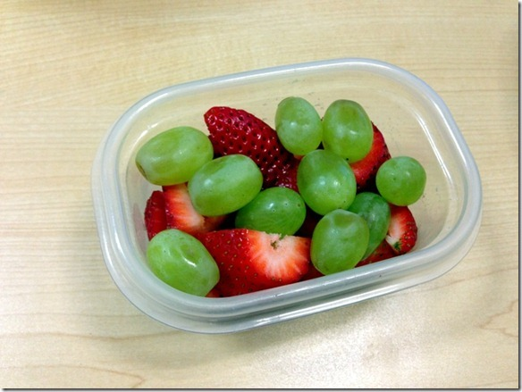 strawberries and grapes