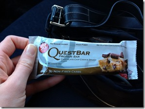 chocolate chip cookie dough quest bar