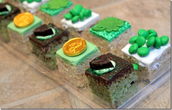 st. paddy's day rice krispie treats
