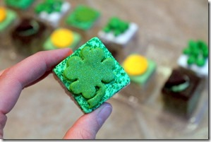 shamrock rice krispie treat