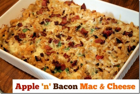 apple n bacon mac and cheese