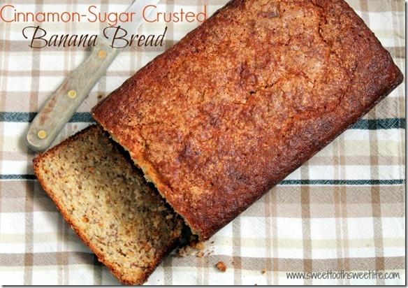 cinnamon sugar crusted banana bread