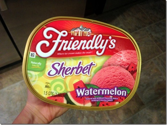 friendly's watermelon sherbet