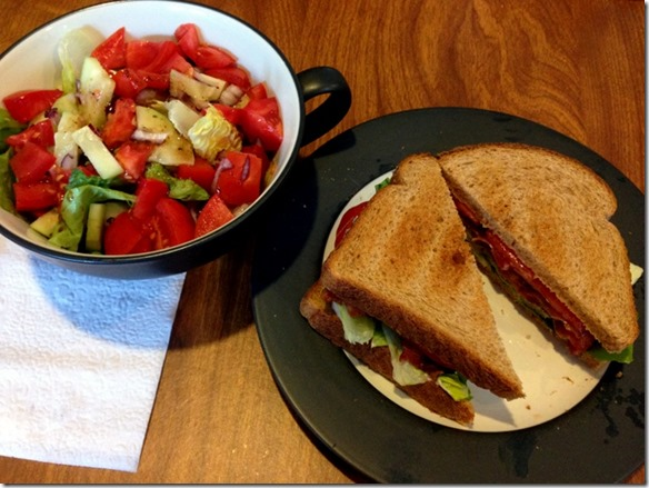 BLT and salad