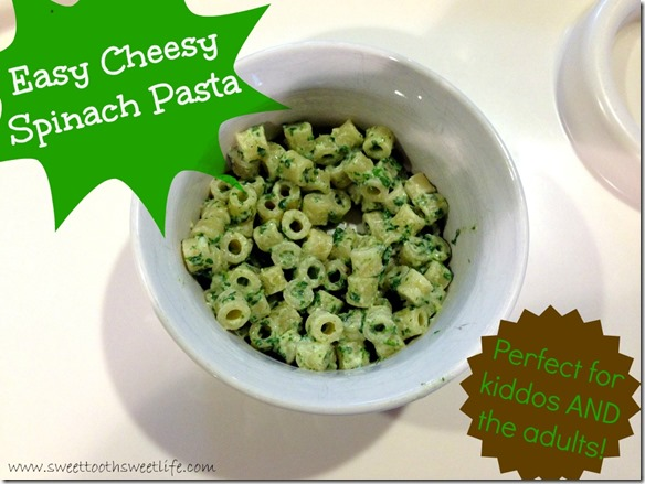 easy cheesy spinach pasta