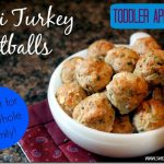 Mini Turkey Apple Toddler Meatballs