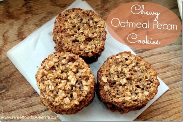 chewy oatmeal pecan cookies