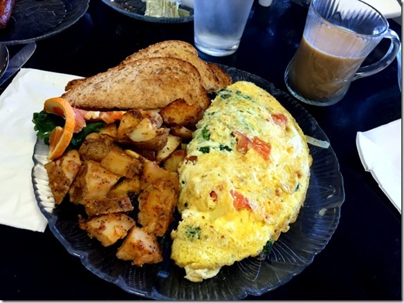 omelet toast and home fries