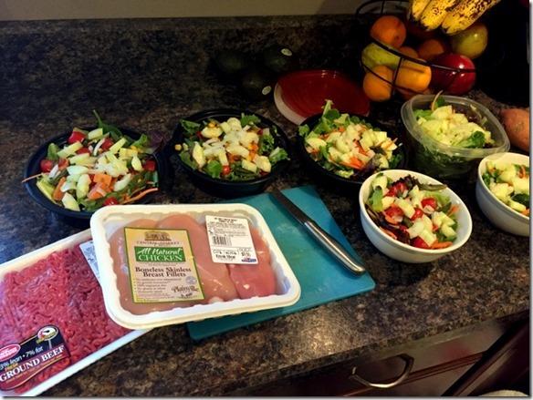 salad food prep