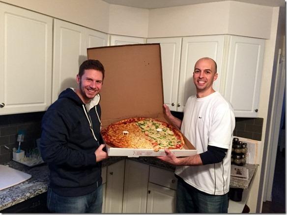 enormous pizza