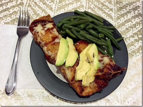 Honey BBQ Chicken Enchiladas
