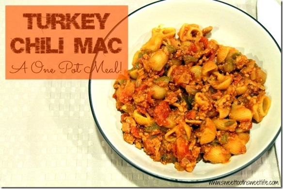 one pot turkey chili mac