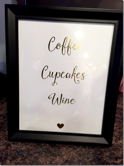 coffee cupcakes wine print