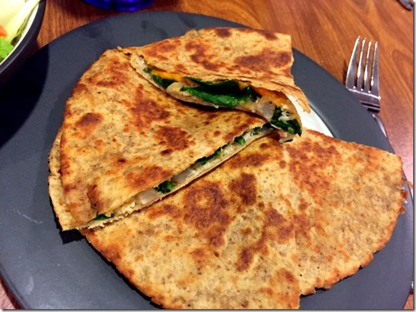 Chicken, Sweet Potato, and Spinach Quesadillas