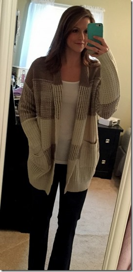 RD Style Arleen Colorblocked Open Cardigan