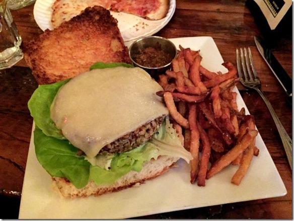 quinoa and lentil burger
