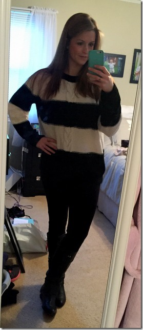 black and white stripe sweater