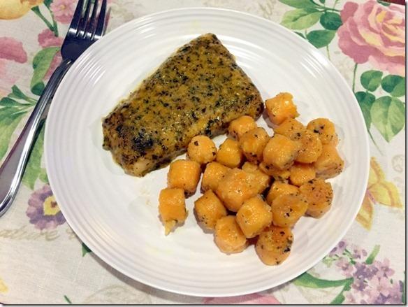 TJ's sweet potato gnocchi