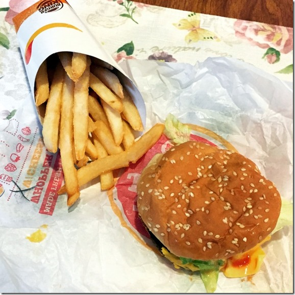 whopper jr and fries