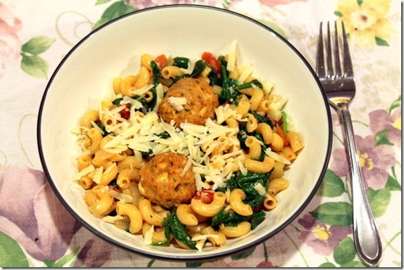 One Pot Pasta with Spinach and Tomatoes