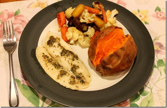 tilapia and sweet potato