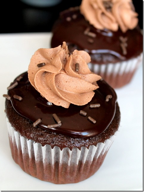 Chocolate Nutella Cupcakes